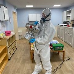 (COVID-19)除菌作業を致しました。