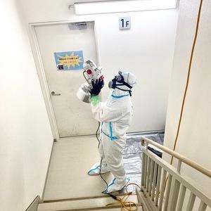 7/24 COVID-19の消毒作業を致しました